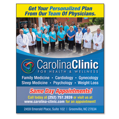 Carolina Clinic for Health & Wellness – Print Ad