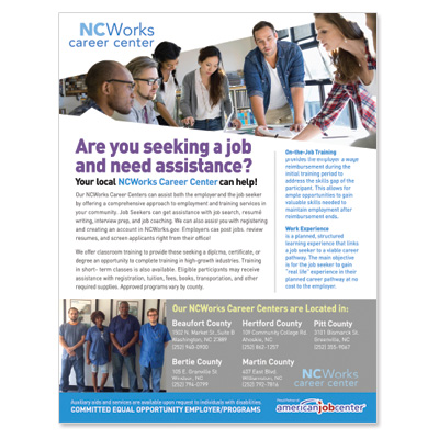 NCWorks Job Search Flyers